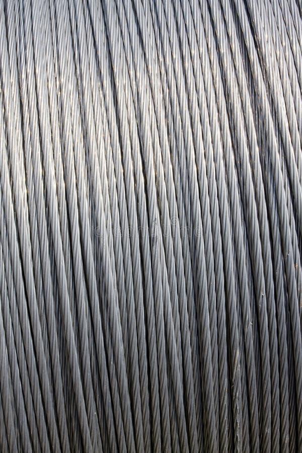 Câble de fil d'acier image libre de droits