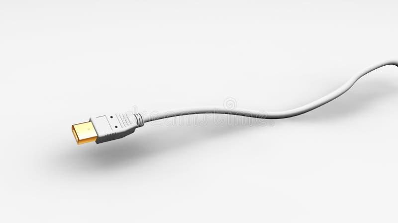 câble de fil d'incendie de 6 bornes illustration stock
