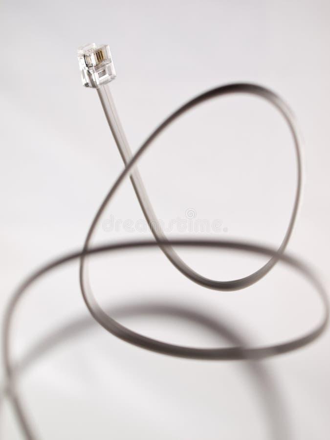 Câble de modem photographie stock libre de droits