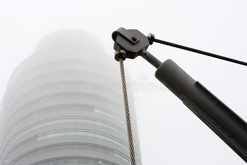 Download Câble de poulie et d'acier image stock. Image du acier - 45369225