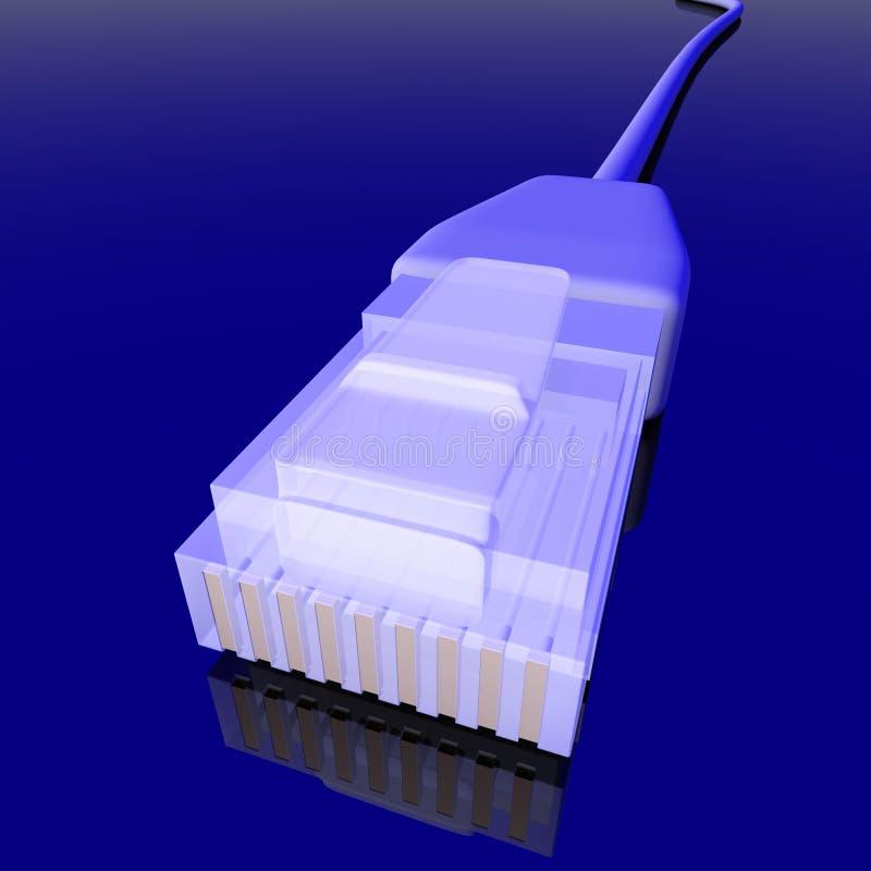 Câble de réseau illustration libre de droits