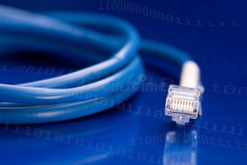 Câble de réseau informatique images stock