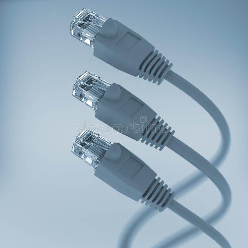 Câble de réseau informatique (couleur de teinte) photographie stock libre de droits