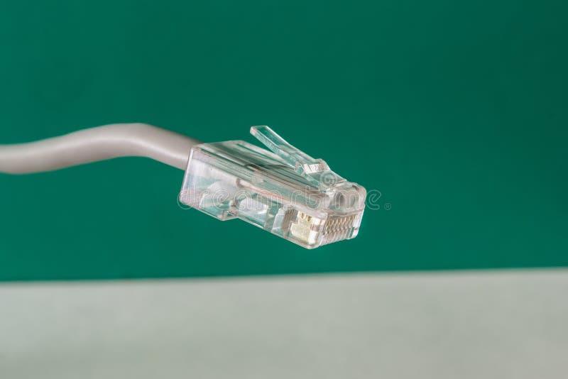 Câble de réseau, RJ-45 photographie stock