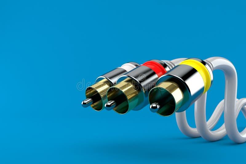 Câble de RCA illustration de vecteur