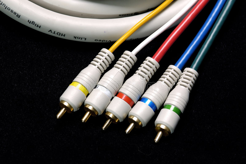 Câble de TVHD images libres de droits
