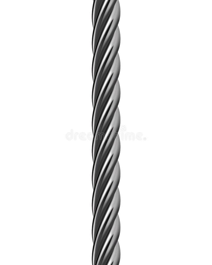 Câble en métal d'isolement. Illustration de vecteur illustration libre de droits