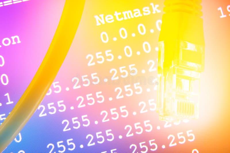 Câble Ethernet et Netmask illustration libre de droits