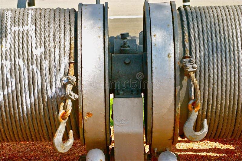 Câble industriel de remorquage photos libres de droits