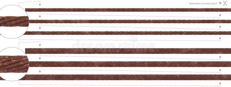 Câble métallique qu'on peut répéter de câble sans couture de rouille illustration de vecteur