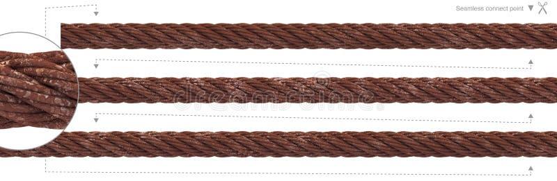 Câble métallique qu'on peut répéter de câble sans couture de rouille illustration stock