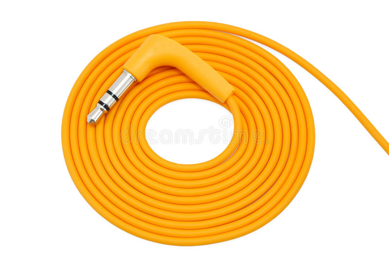 Câble orange enveloppé images stock
