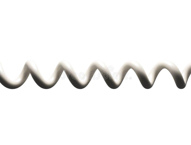 Câble téléphonique spiralé illustration de vecteur