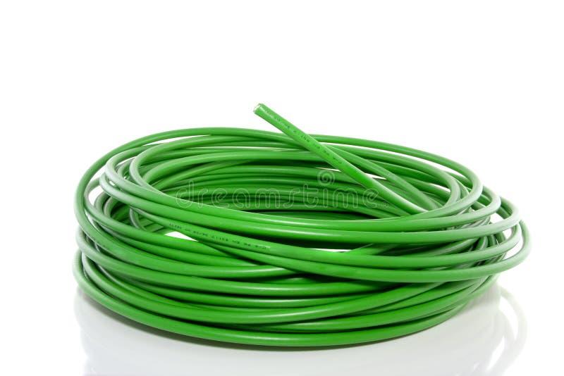 Câble vert à fibres optiques image libre de droits
