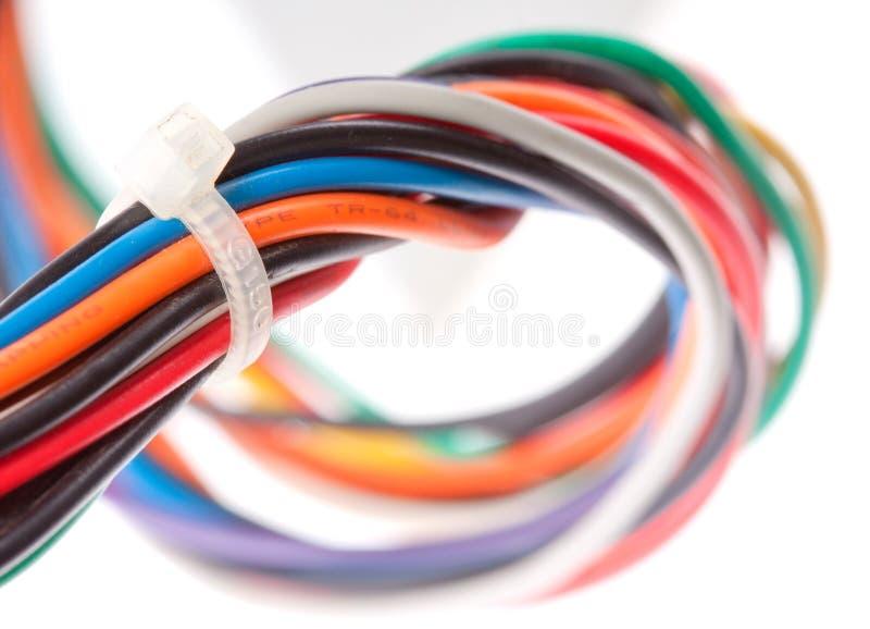 Câbles électriques colorés photo stock