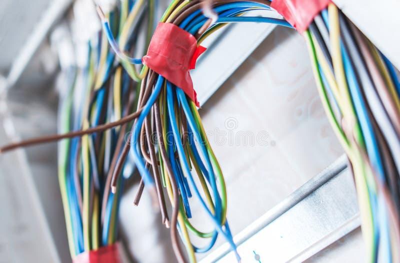 Câbles électriques résidentiels image stock