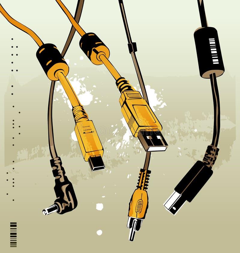 Câbles illustration stock