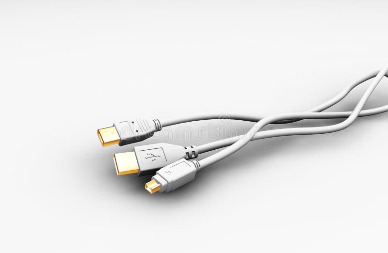 Câbles illustration libre de droits