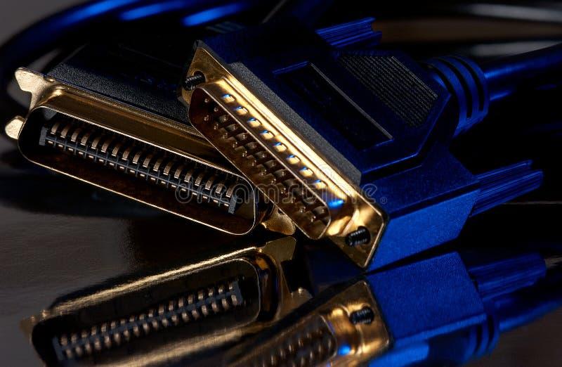 Câbles d'ordinateur photographie stock libre de droits