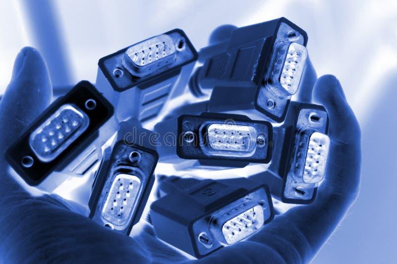 Câbles d'ordinateur photos libres de droits