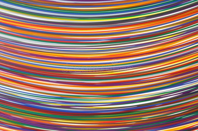 Câbles dans des réseaux de télécommunication photographie stock libre de droits