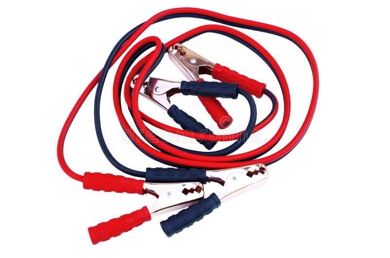 Câbles de batterie de voiture image libre de droits