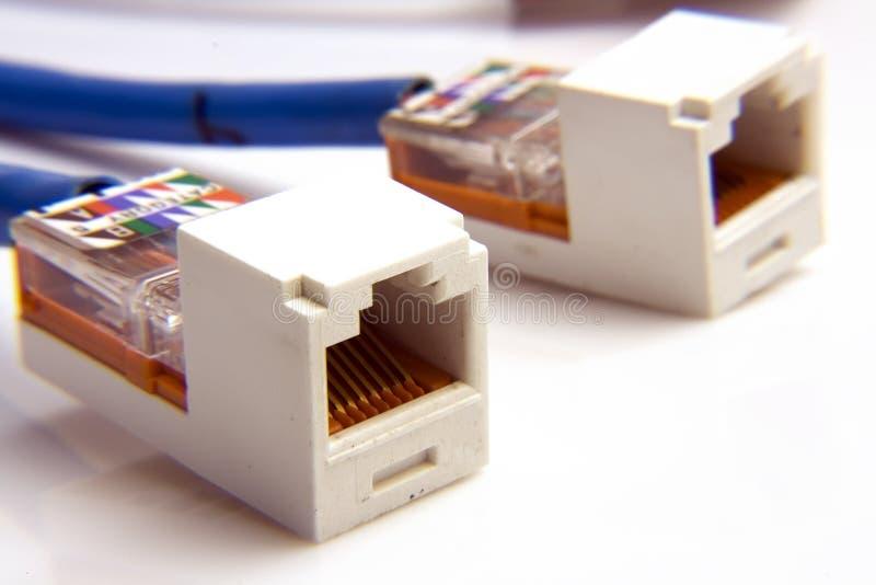 Câbles de réseau informatique images stock