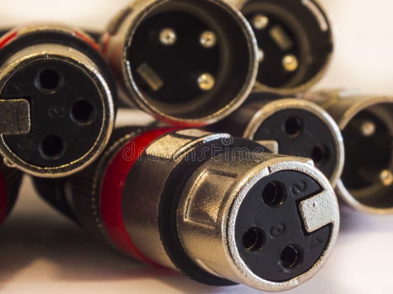 Câbles de Xlr images libres de droits