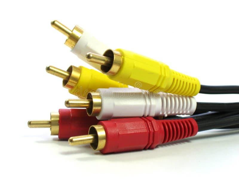 câbles du RCA-type A/V photographie stock libre de droits