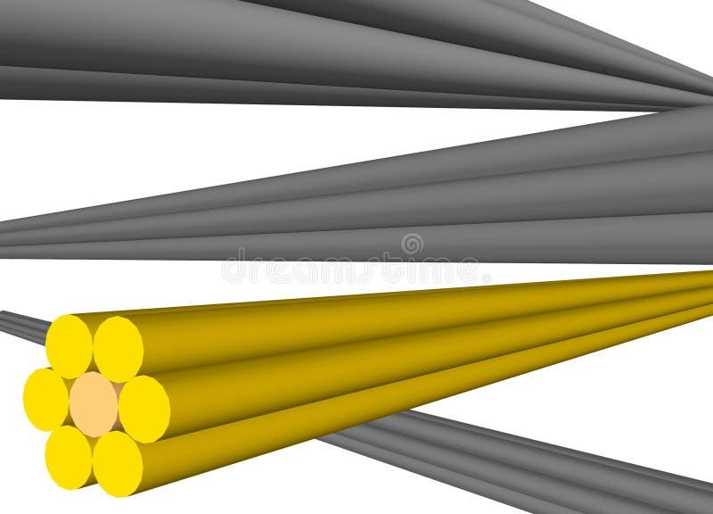 Câbles pour le transfert de données dans un réseau illustration libre de droits