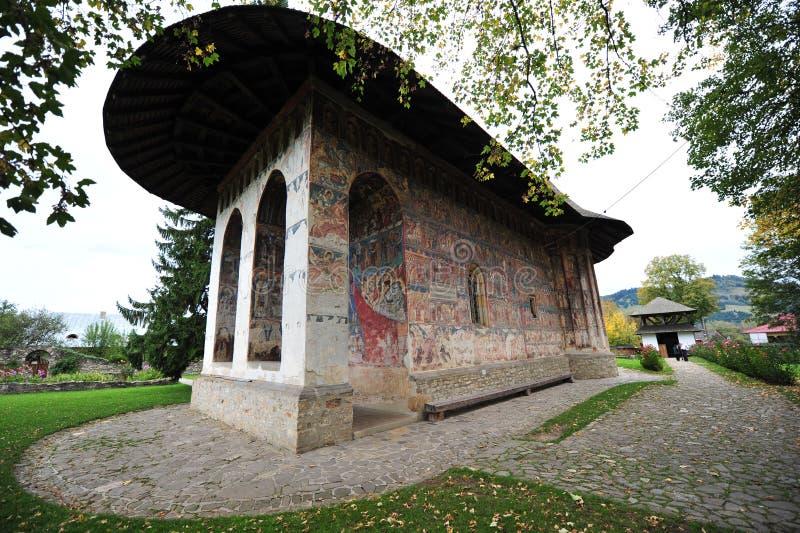 Câlinez le monastère, Moldavie (Bucovina), Roumanie image libre de droits