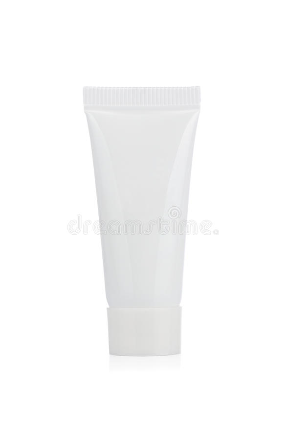 Câmara de ar cosmética em branco fotografia de stock