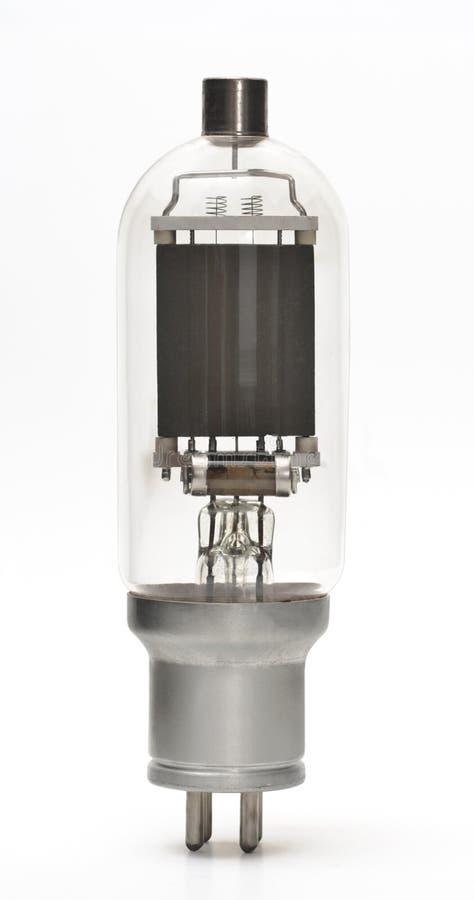 Câmara de ar de vácuo - componente eletrônico velho isolado foto de stock royalty free