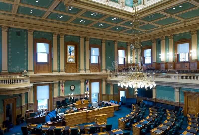 Câmara de casa do Capitólio do estado de Colorado fotografia de stock