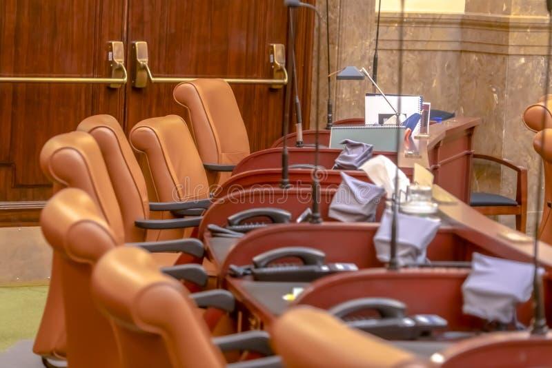 A câmara de casa no assoalho legislativo da construção do capital de estado de Utá foto de stock royalty free