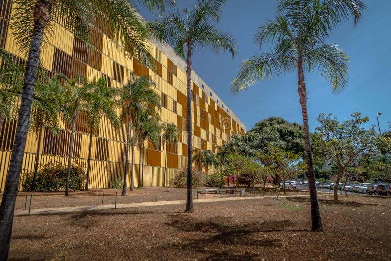 Câmara de deputados anexo IV com os a maioria de escritórios dos deputados - Brasília, Distrito federal, Brasil fotografia de stock royalty free