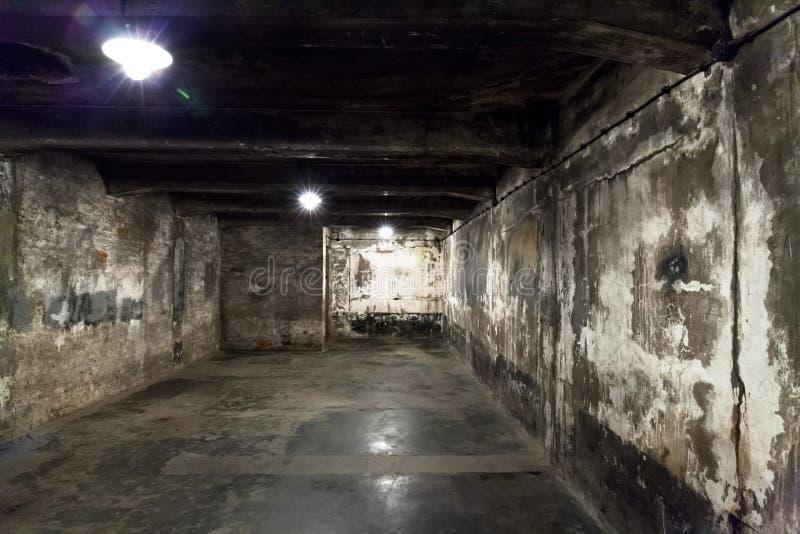 Câmara de gás no acampamento principal de Auschwitz imagem de stock royalty free