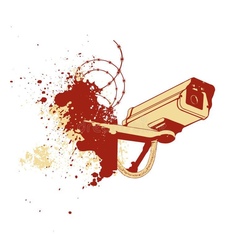 Câmara de segurança ilustração do vetor