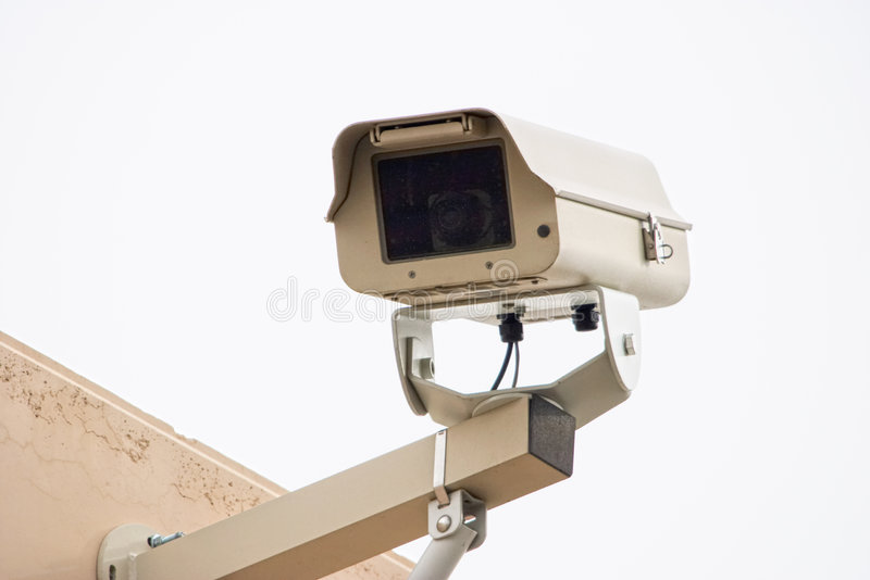 Câmara de segurança ao ar livre fotografia de stock