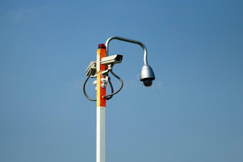 Câmara de segurança da monitoração do CCTV imagens de stock