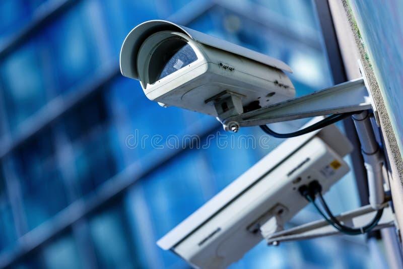 Câmara de segurança e vídeo urbano fotografia de stock royalty free