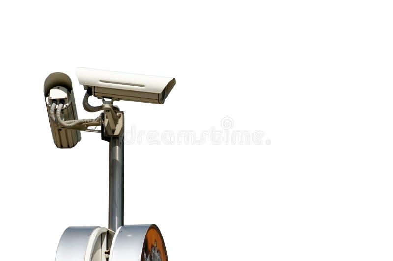 Câmara de segurança isolada imagem de stock royalty free