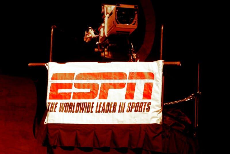 Câmara de televisão de ESPN imagens de stock