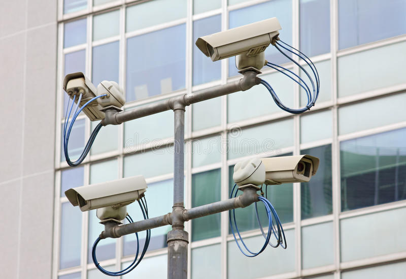 Câmara de vídeo da segurança da fiscalização imagem de stock royalty free