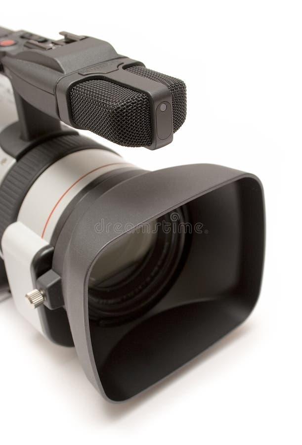 Câmara de vídeo de Digitas (opinião Parte-Dianteira do detalhe) fotografia de stock royalty free