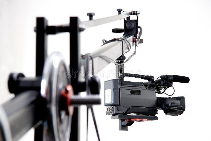 Câmara de vídeo de Dv no guindaste foto de stock