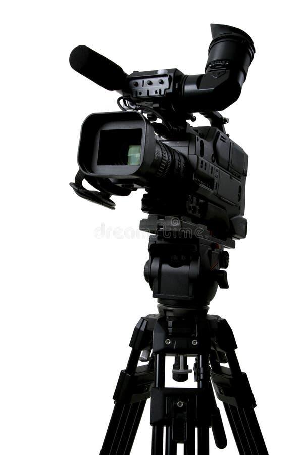 Câmara de vídeo isolada do dv foto de stock