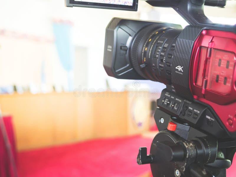 câmara de vídeo 4K digital imagem de stock