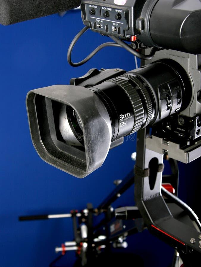 Câmara de vídeo no guindaste fotografia de stock royalty free