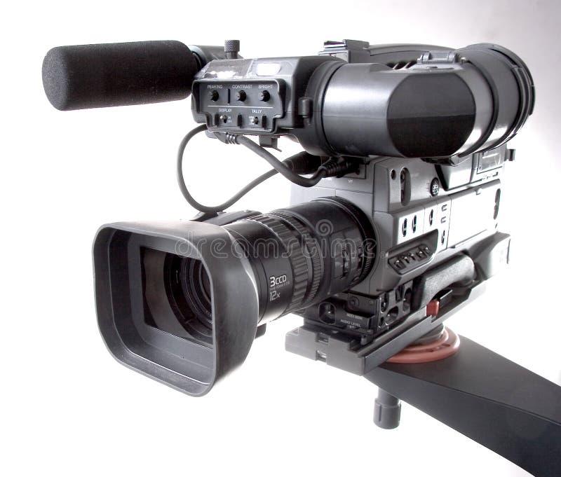 Câmara de vídeo no guindaste foto de stock